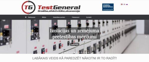 TestGeneral mājas lapa